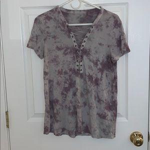 Tops - American Eagle Purple Tie dye tee